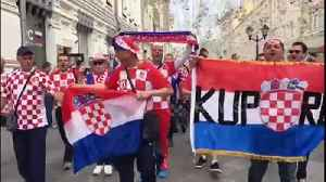 Croatia supporters march through the streets of Moscow ahead of England clash [Video]