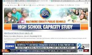 Overcrowding solutions sought by Baltimore County Public Schools [Video]