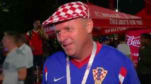 News video: Croatia fans delight in England World Cup defeat