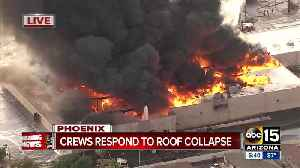 Massive fire breaks out at Phoenix Safeway store [Video]