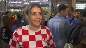 News video: Fans from around the world join Croatians to celebrate win in Moscow