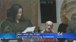 Miami Man Without Arms Charged With Using Scissors To Stab Tourist [Video]