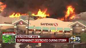 News video: Massive fire under control at Phoenix Safeway, no injuries reported