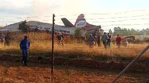 News video: Plane crashes in South Africa with one fatality says emergency services