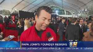 News video: Papa John's Founder Resigns As Chairman