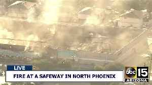 Air15 shows aftermath of fire at Phoenix grocery store [Video]