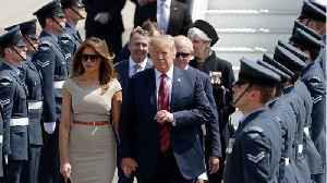 Donald Trump Arrives In Britain For First Visit As U.S. President [Video]