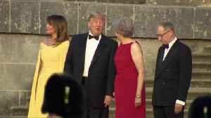 May greets Trump as he arrives for gala [Video]