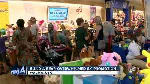 Build-A-Bear stores overwhelmed by promotion [Video]