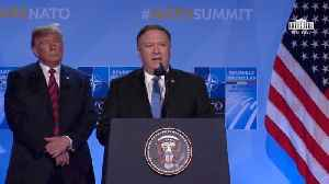 Mike Pompeo Gives Short North Korea Update At NATO Summit [Video]