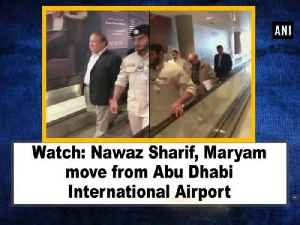 Watch: Nawaz Sharif, Maryam move from Abu Dhabi International Airport [Video]
