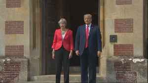 News video: Trump criticizes Theresa May in interview a day before meeting