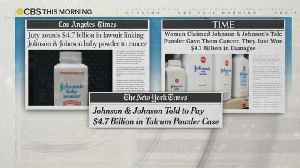 News video: Johnson & Johnson vows to appeal $4.7 billion talcum products verdict