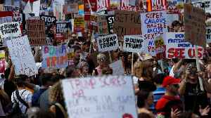 Thousands Protest Trumps Visit In London [Video]