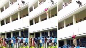 19-year-old Indian student dies after forced to jump off building during safety drill in college [Video]