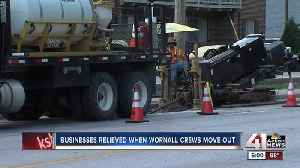 Businesses relieved as Wornall crews move out [Video]