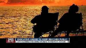 Gov. Scott orders all beaches remain open to public [Video]