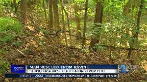 Crews rescue hiker found 4 days after falling off trail in Leakin Park [Video]
