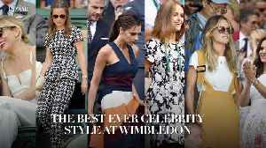 The best ever celebrity style at Wimbledon [Video]