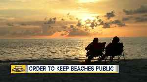 Gov. Scott signs order to protect beach access [Video]