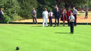 Melania Trump and Philip May enjoy a game of boules in London [Video]