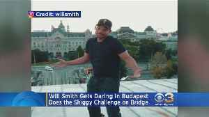 Will Smith Joins In On The Shiggy Challenge From A Budapest Bridge [Video]