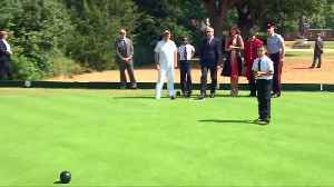 Melania Trump and Philip May enjoy a game of bowls in London [Video]
