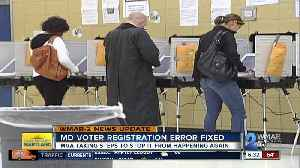 Authorities say voter registration issue resolved [Video]