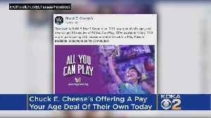Chuck E. Cheese's Announces 'Pay Your Age' Deal [Video]