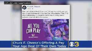 Chuck E. Cheese's Offering 'Pay Your Age' Deal After Build-A-Bear Fiasco [Video]