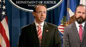 Rod Rosenstein announces indictments of 12 Russian agents [Video]