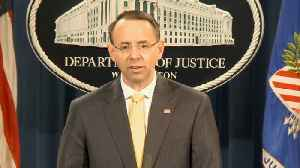 News video: Rod Rosenstein Announces Mueller Has Indicted 12 Russians On Charges Related To 2016 Election Hacking