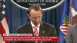 News video: 12 Russian Officers Indicted For Hacking During The 2016 Election