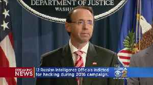 News video: Justice Dept. Announces 12 Russians Indictments In Mueller Investigation