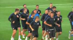 News video: Croatia train in Moscow ahead of World Cup final