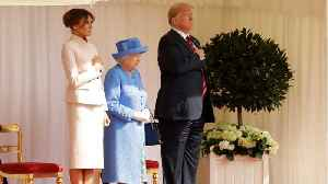 News video: Queen Elizabeth Welcomes President Trump And First Lady Melania Trump