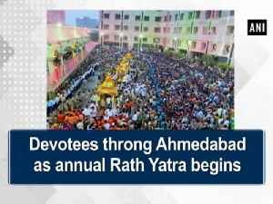 News video: Devotees throng Ahmedabad as annual Rath Yatra begins