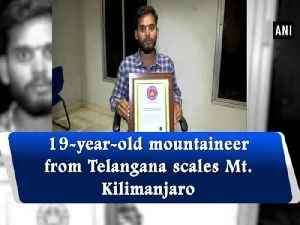 19-year-old mountaineer from Telangana scales Mt. Kilimanjaro [Video]