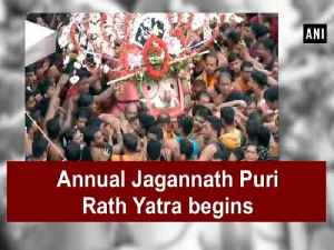 Annual Jagannath Puri Rath Yatra begins [Video]