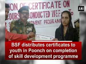 BSF distributes certificates to youth in Poonch on completion of skill development programme [Video]