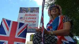 Pro-Trump demonstrators defend U.S. president's visit to UK [Video]