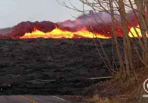 Lava from Volcanic Fissure Surges Across Hawaii Landscape [Video]