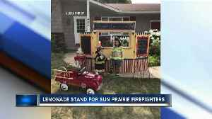 Lake Mills kids host lemonade stand for fallen firefighter [Video]