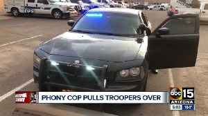 Man arrested for impersonating an officer and driving a fake patrol car [Video]