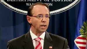 Deputy AG Rosenstein - No Americans Committed Crimes [Video]