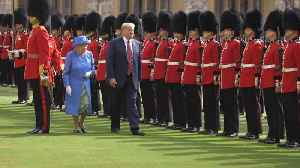 President Trump And First Lady Melania Trump Visit The Queen [Video]