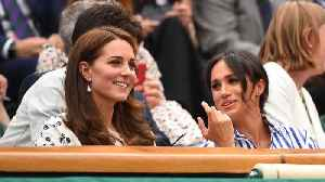 New Sister-In-Laws Meghan Markle And Kate Middleton Attend Wimbledon