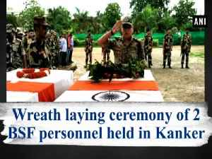 Wreath laying ceremony of 2 BSF personnel held in Kanker [Video]