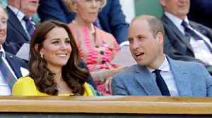 Kate Midleton & Prince William Sit Courtside At Wimbledon [Video]