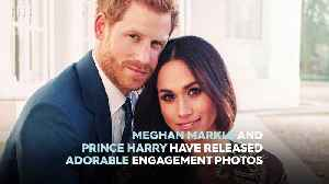 Meghan Markle and Prince Harry release adorable engagement photos [Video]